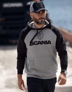 Scania Black and Grey Hoodie