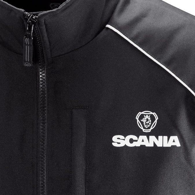 Scania Black Truck Jacket close up