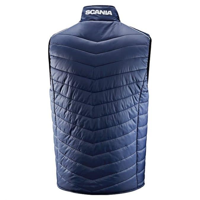 scania Sleeveless Blue insulation jacket back