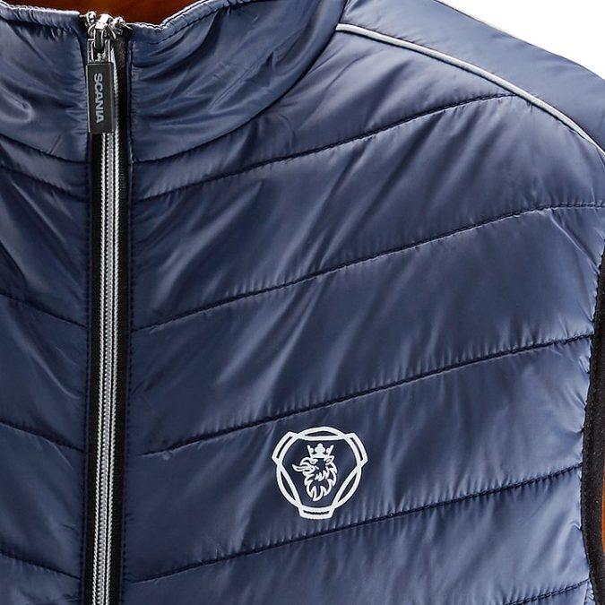 scania Sleeveless Blue insulation jacket close up