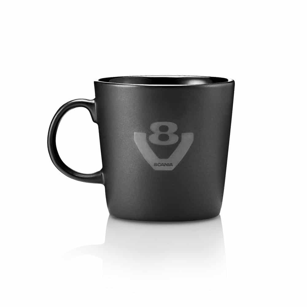 SCANIA V8 BLACK COFFEE CUP