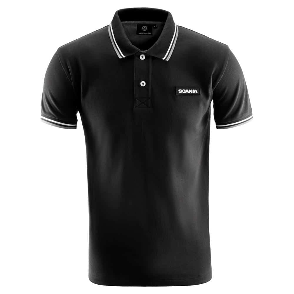 SCANIA MENS CLASSIC BLACK POLO